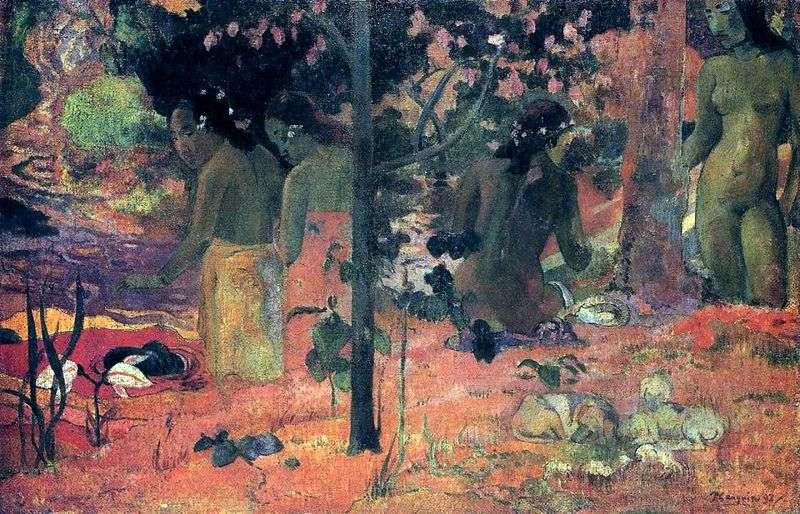 Kąpiący się   Paul Gauguin