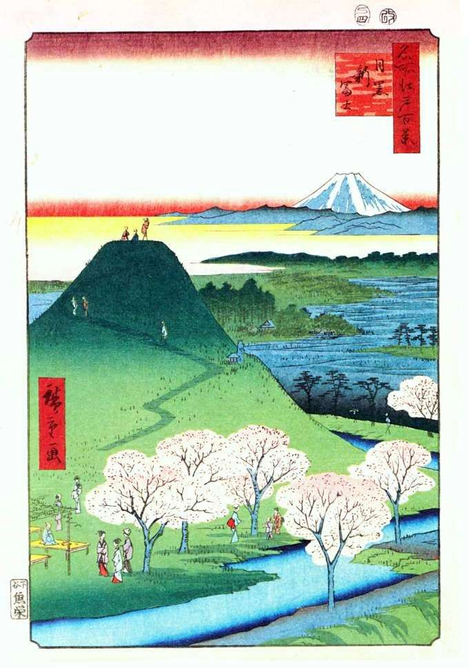 Nowa Fuji w Meguro   Ando Hiroshige