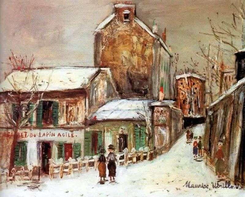 Kawiarnia Frisky Rabbit   Maurice Utrillo