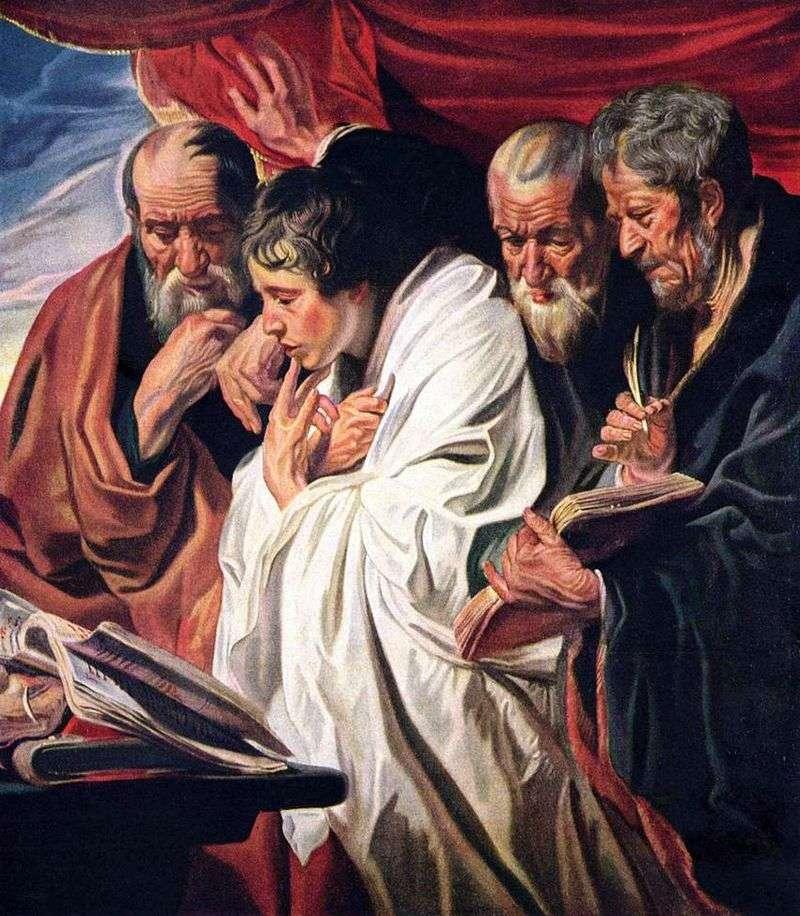 Czterej ewangeliści   Jacob Jordaens