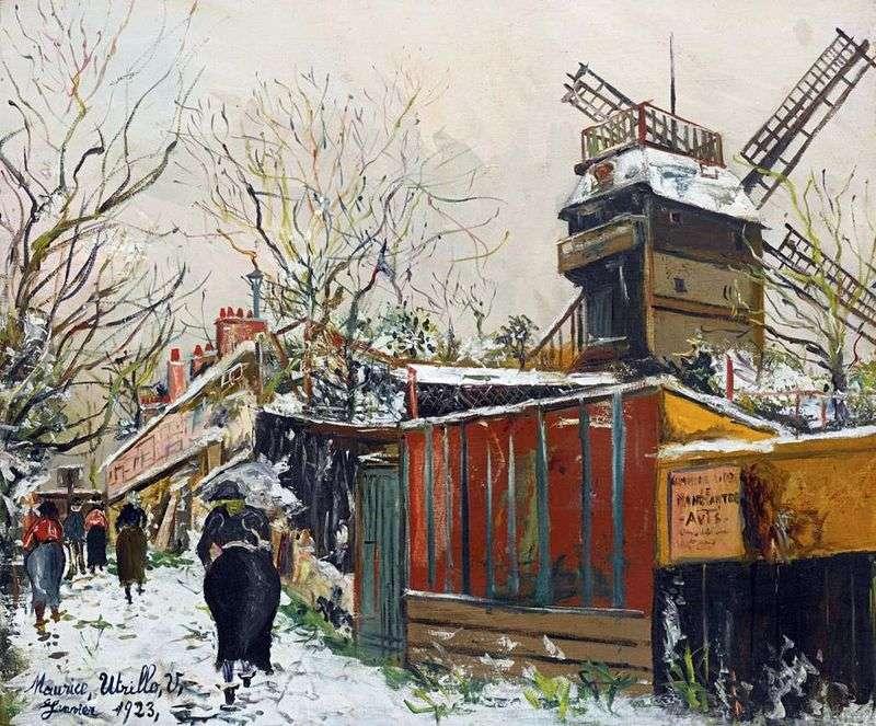 Moulin de la Galette pod śniegiem   Maurice Utrillo