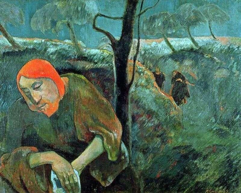 Modlitwa o puchar (Chrystus w ogrodzie Getsemani)   Paul Gauguin