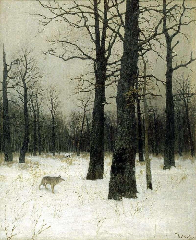 Zima w lesie   Izaak Lewitan