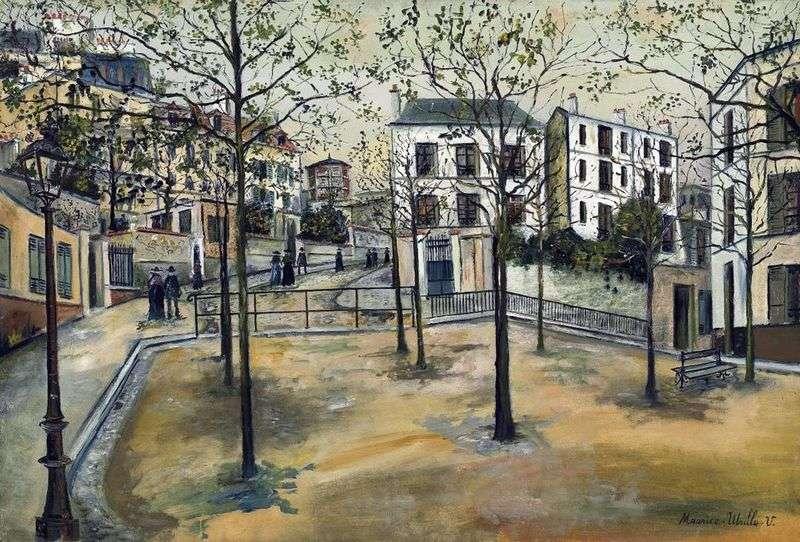 Plac Ravignan   Maurice Utrillo