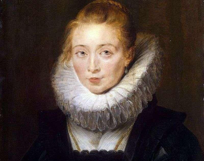 Portret infantki Isabella, robotnik w skałach   Peter Rubens