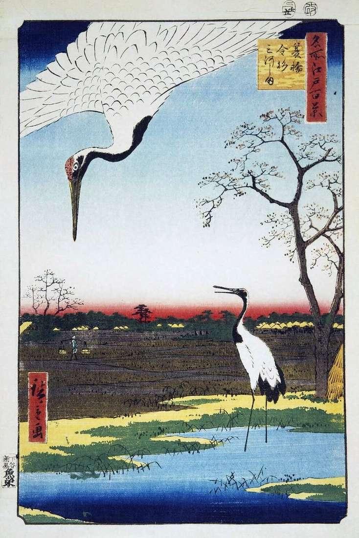 Wioski Minova, Kanasugi i Mikavashima   Hiroshige Ando