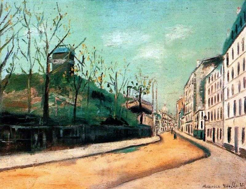 Street Lepic i Moulin de la Galette   Maurice Utrillo
