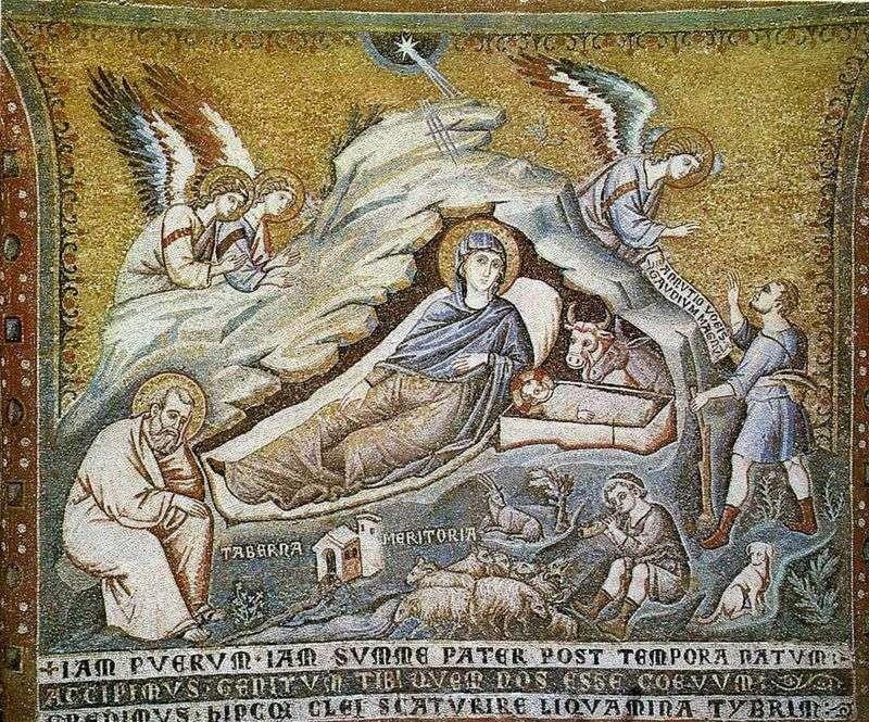 Boże Narodzenie Chrystusa.   Pietro Cavallini