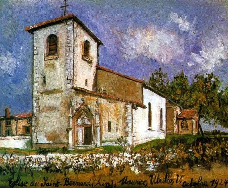Kościół św. Bernarda   Maurice Utrillo