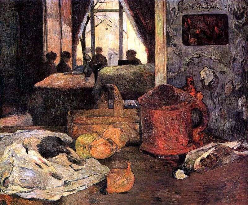 Martwa natura we wnętrzu, Kopenhaga   Paul Gauguin