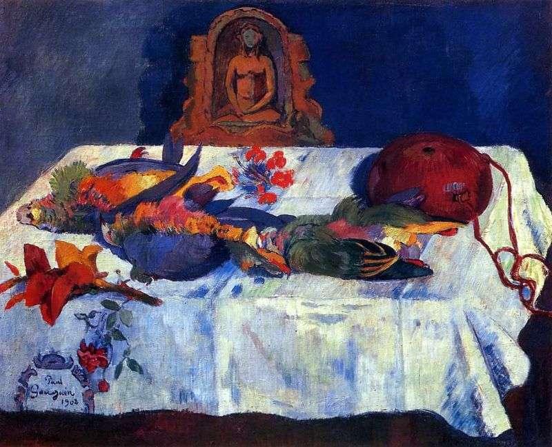 Martwa natura z papugami   Paul Gauguin