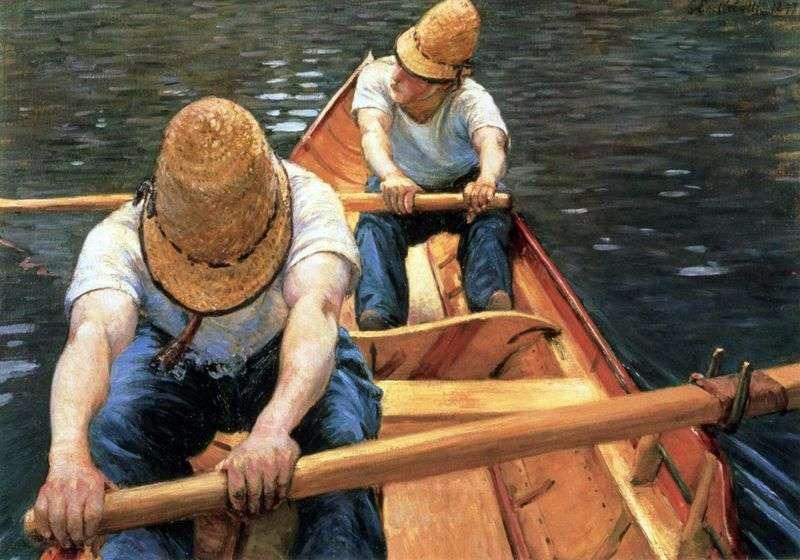 Wioślarze   Gustave Caibotte