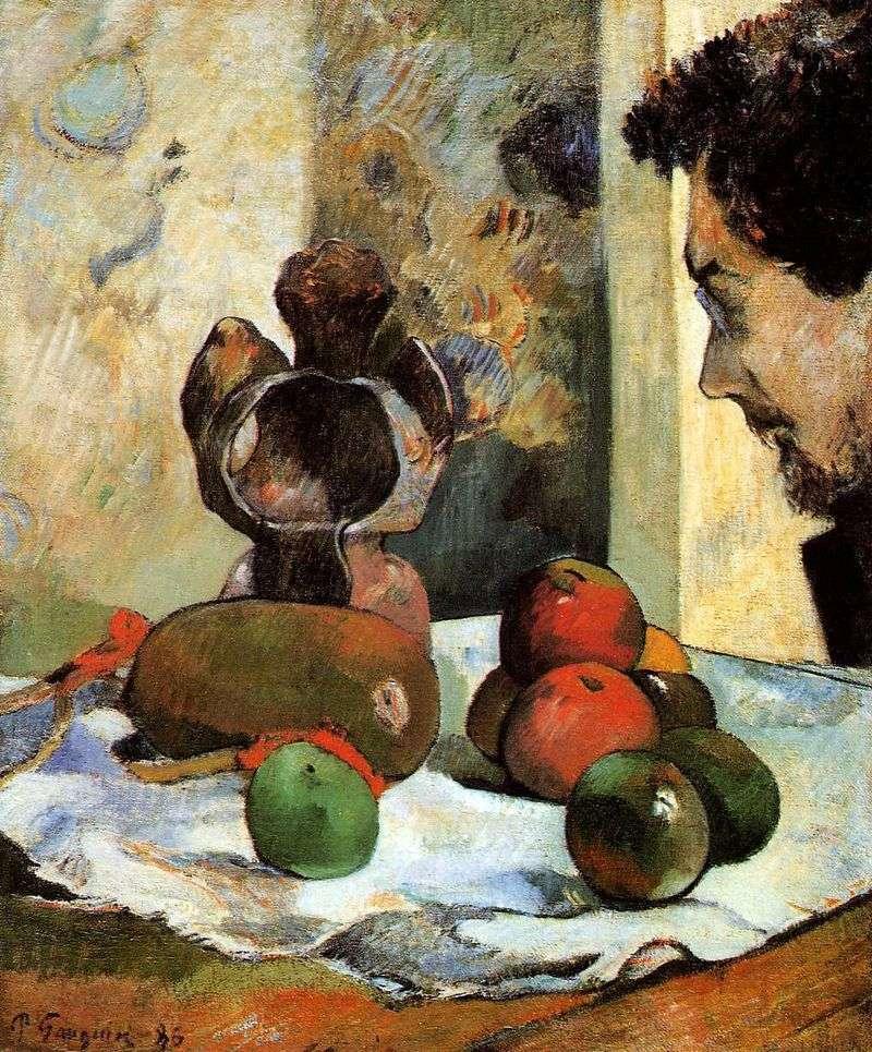 Martwa natura z profilem Charlesa Lavala   Paula Gauguina