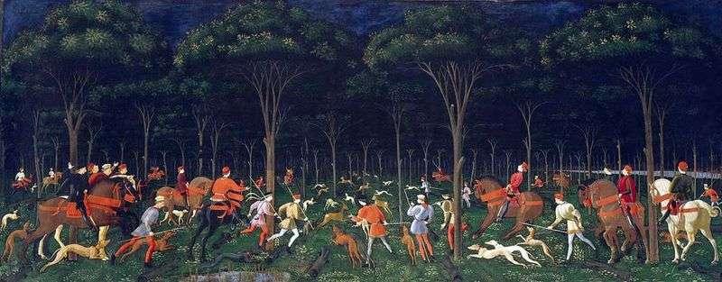 Nocne polowanie   Paolo Uccello