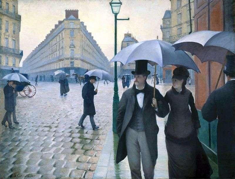 Paris Street w deszczową pogodę   Gustave Caibotte