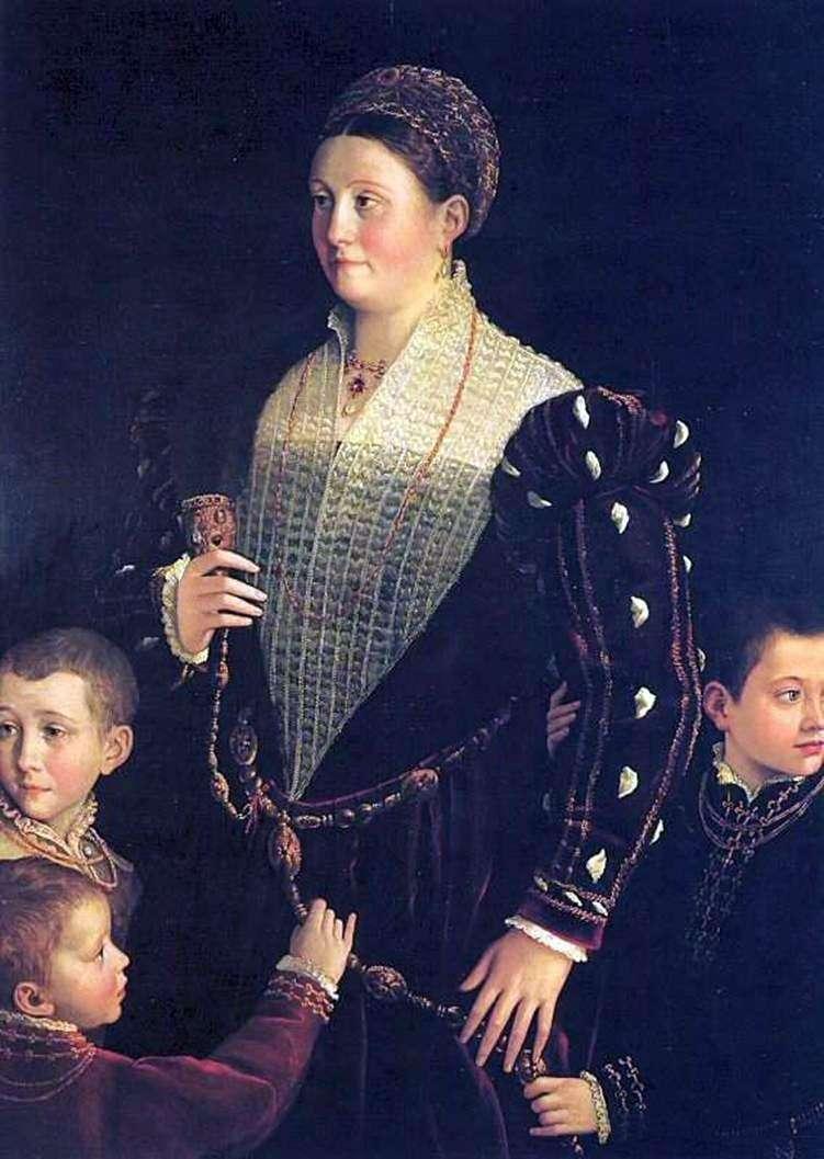 Wicehrabia Sansecondo z dziećmi   Francesco Parmigianino
