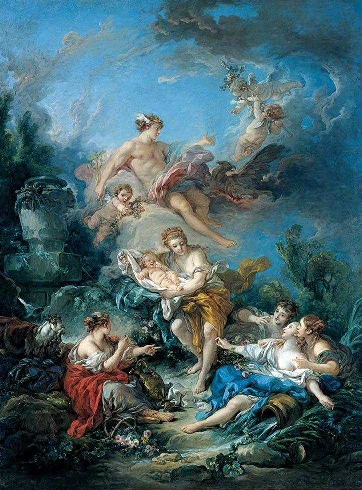 Rtęć przedstawia nimfy małego Bachusa   Francois Bouchera