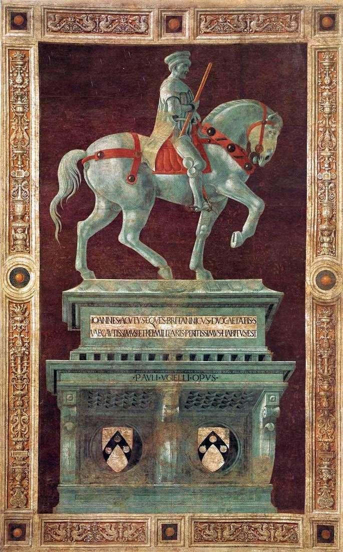 Pomnik Condottiere John Hockwood   Paolo Uccello