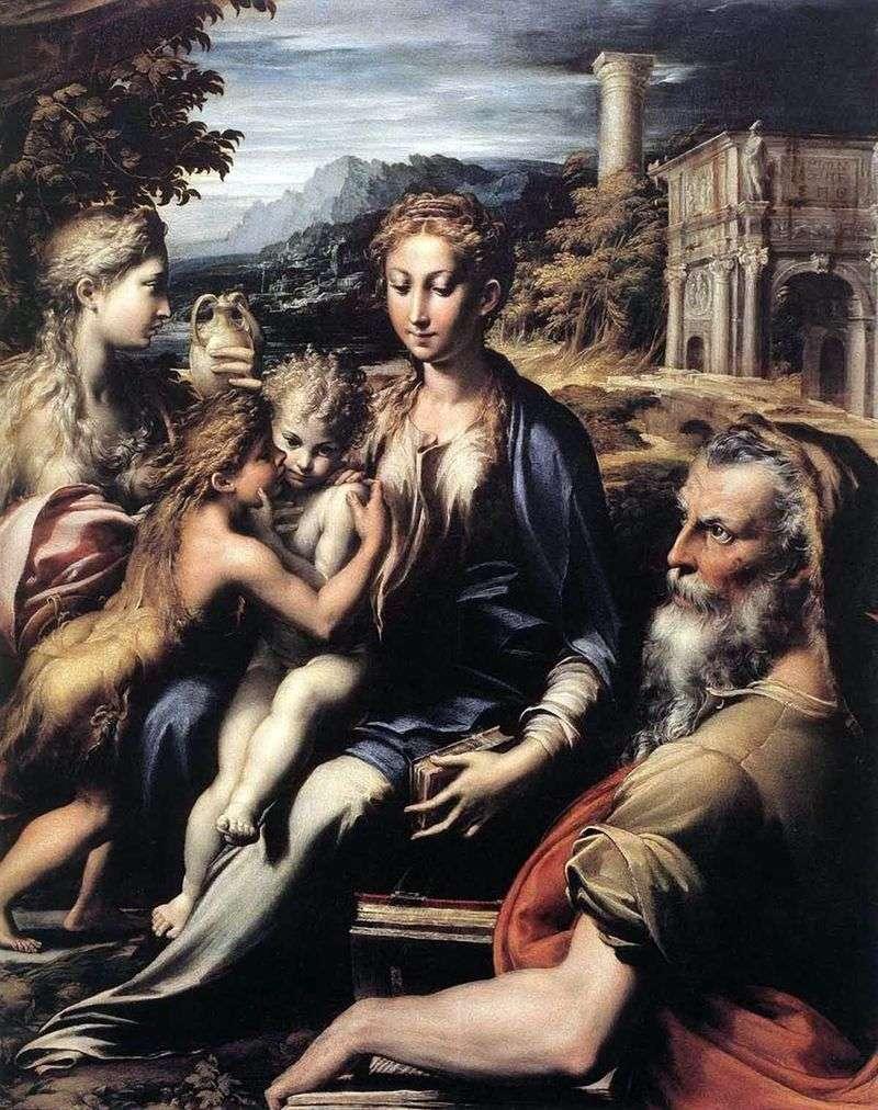 Madonna na tronie, Zachariasz, Jan Chrzciciel i Maria Magdalena   Francesco Parmigianino