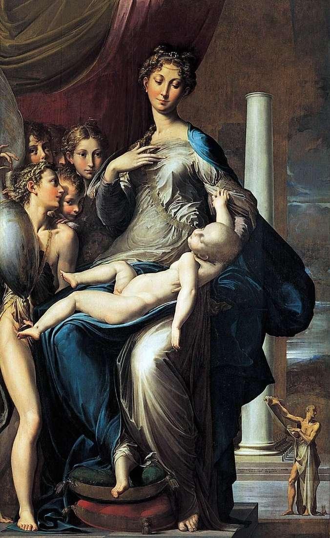 Madonna z Dzieciątkiem, Aniołami i Św. Jerome   Francesco Parmigianino