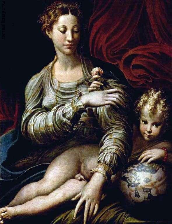 Madonna z różą   Francesco Parmigianino