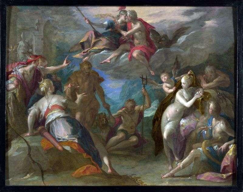 Zdziwienie bogów   Hans von Aachen