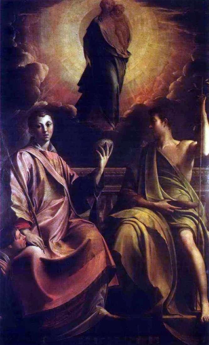 Madonna, św. Szczepan i Jan Chrzciciel   Francesco Parmigianino