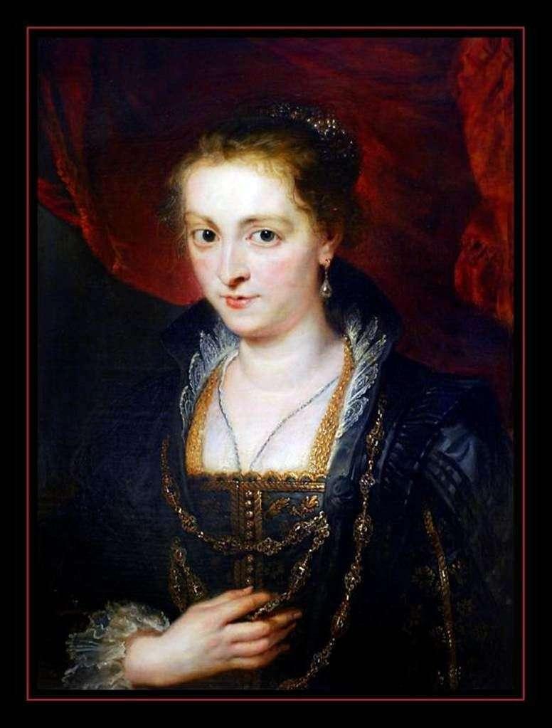 Portret połowy długości pani   Peter Rubens