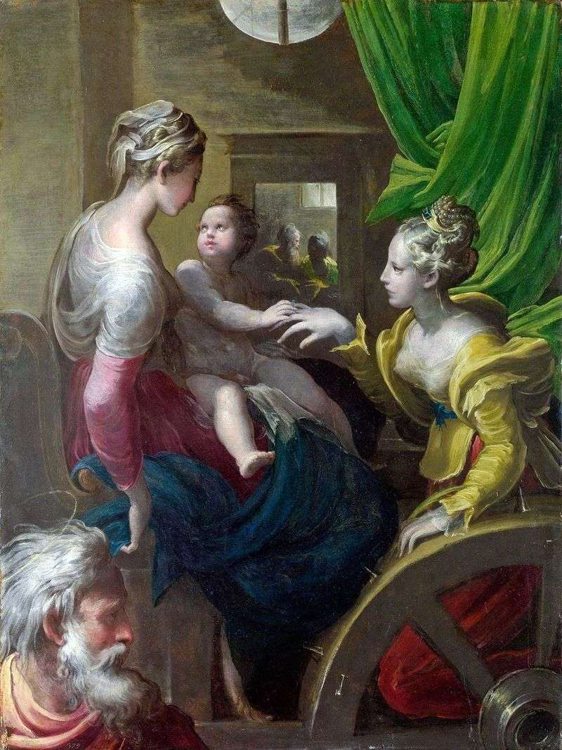 Mistyczne zaręczyny Świętej Katarzyny   Francesco Parmigianino