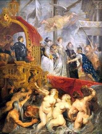Przybycie Marii de Medici w Marsylii   Peter Rubens