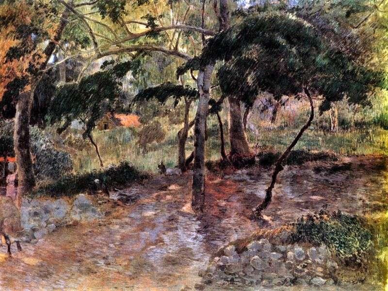 Krajobraz na wyspie Martynika   Paul Gauguin