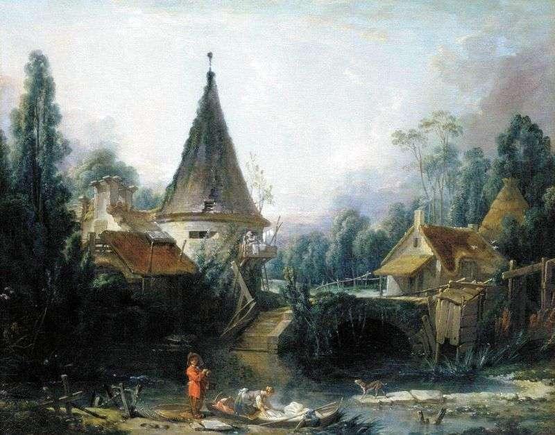 Krajobraz w okolicach Beauvais Francois Boucher