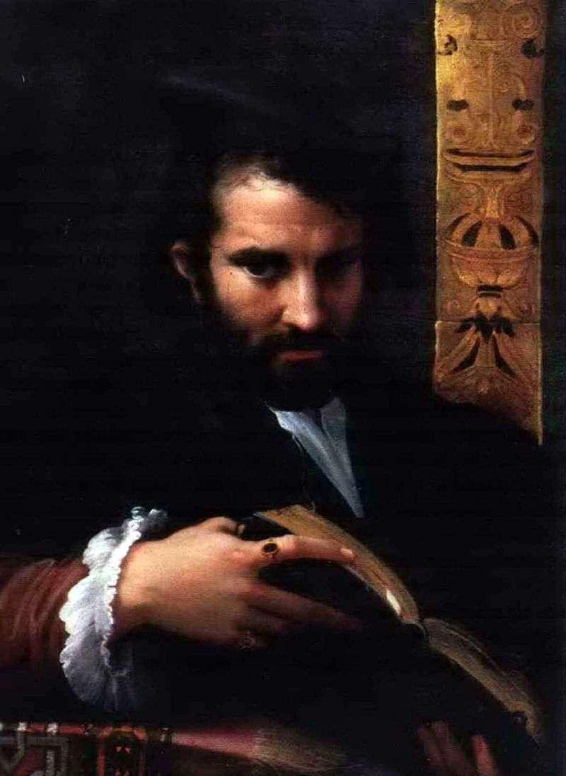 Portret mężczyzny z książką   Francesco Parmigianino