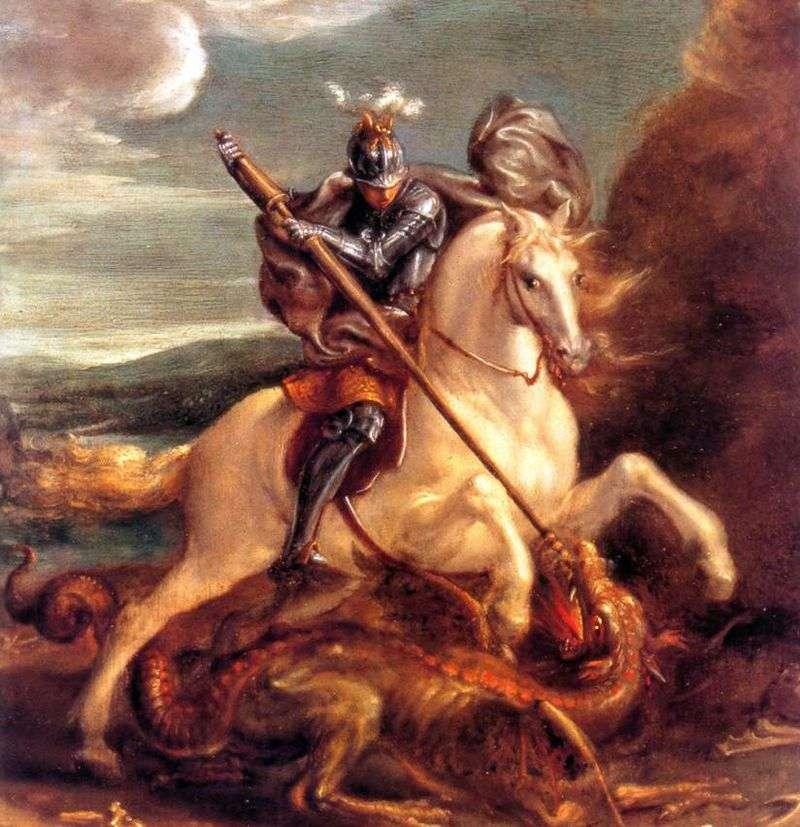 George Strikes the Dragon   Hans von Aachen