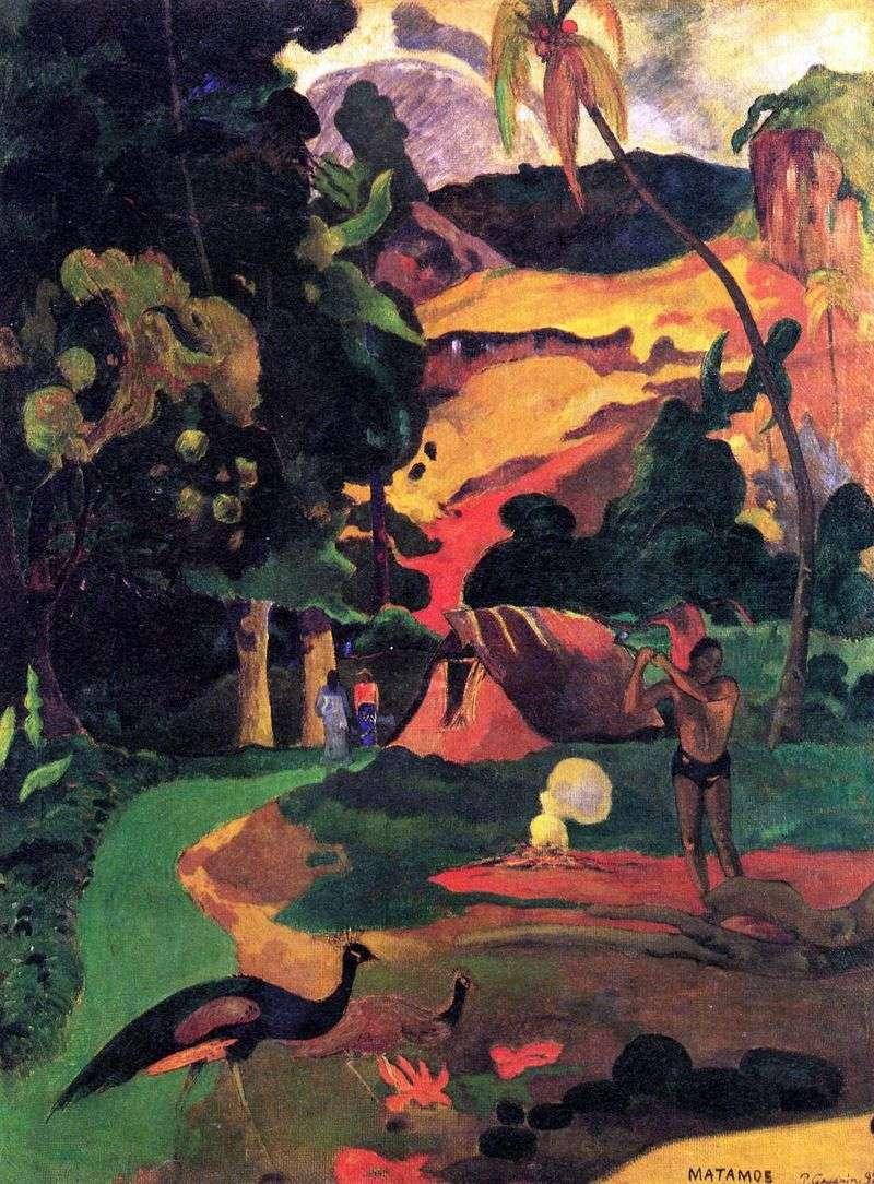 Pejzaż z pawie   Paul Gauguin