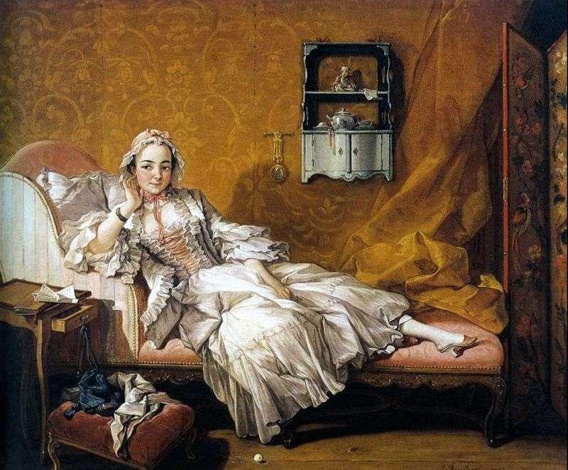 Portret żony malarza Marie Jeanne Buzot   Francois Boucher