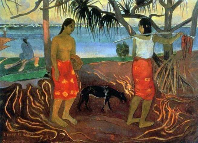 Pod drzewem pandanusa   Paul Gauguin