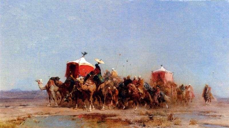 Desert Caravan   Alberto Pasini