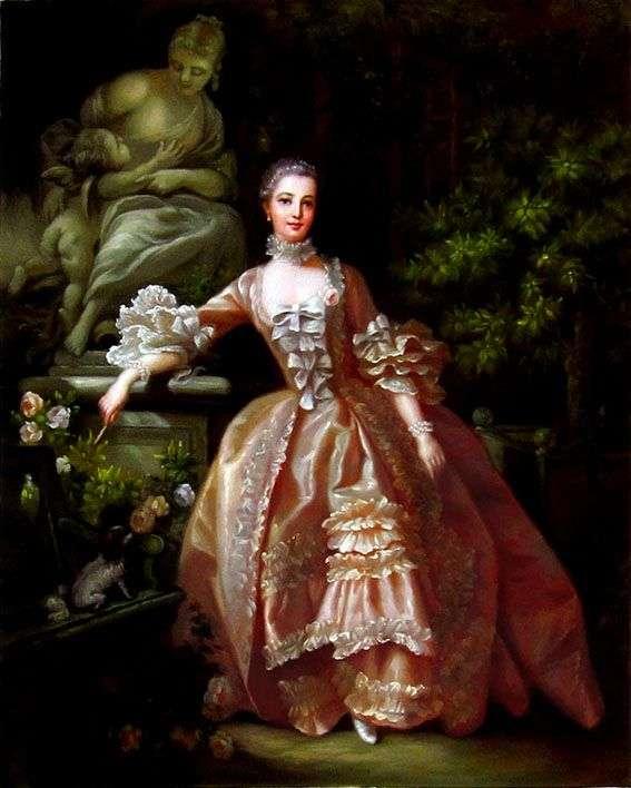 Portret Madame de Pompadour   Francois Boucher