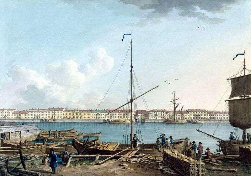 Nabrzeże angielskie z wyspy Wasiljewskiej   Benjamin Patersen