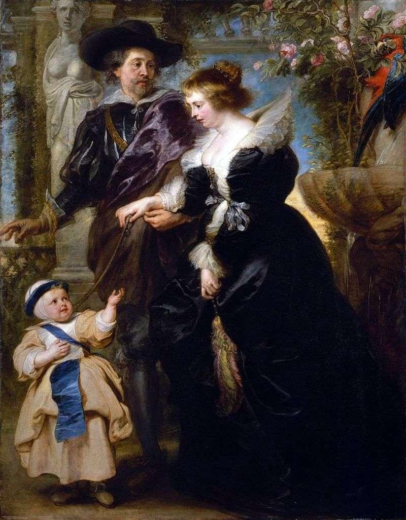 Rubens, jego żona i syn   Peter Rubens