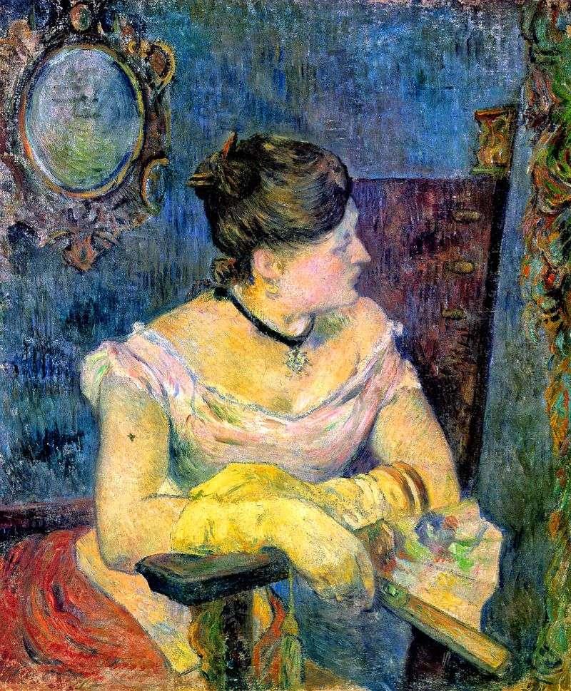Portret pani Gauguin w stroju wieczorowym   Paul Gauguin