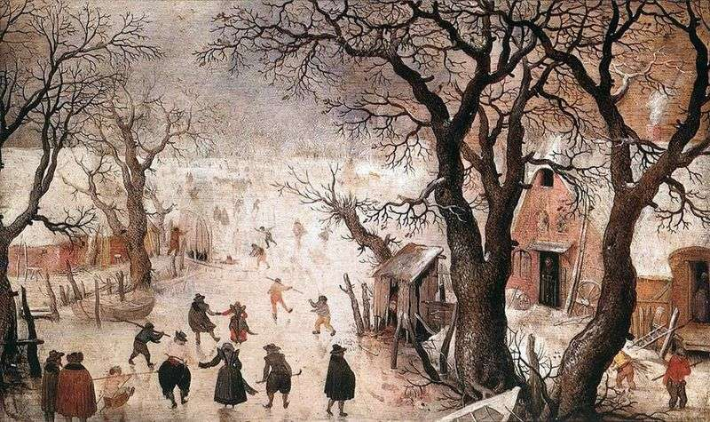 Zima w mieście   Hendrick Averkamp