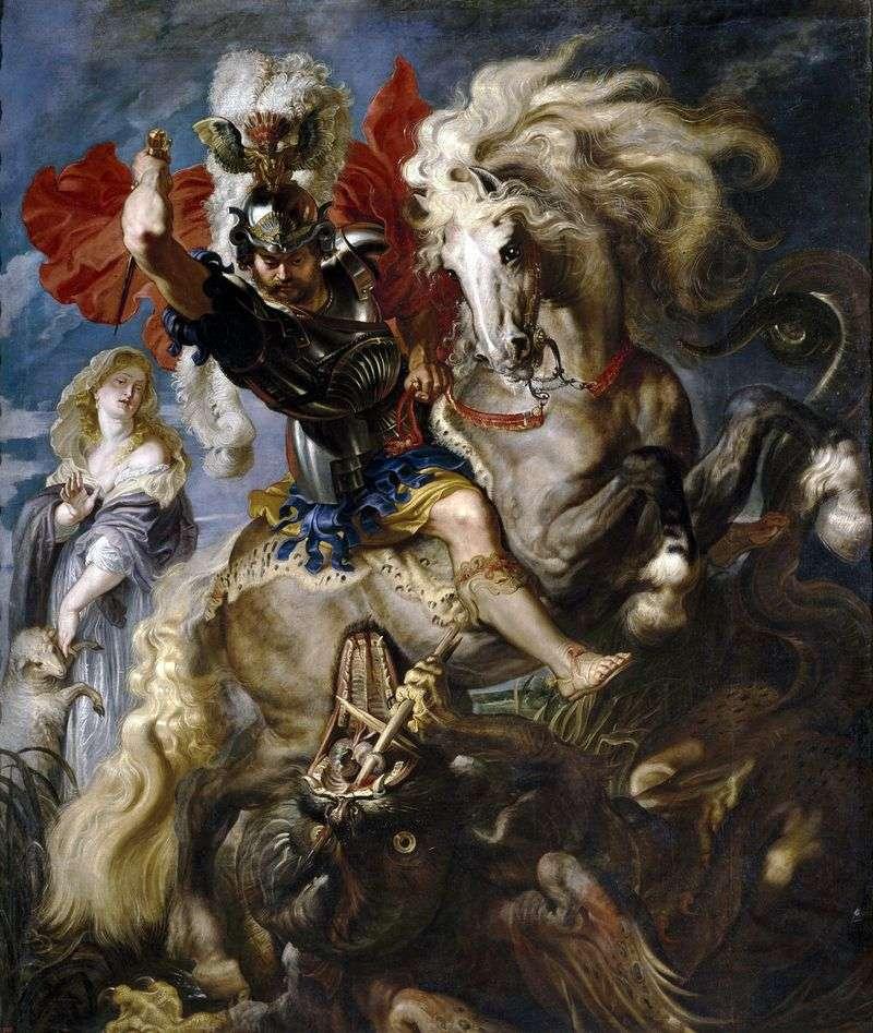 Święty Jerzy i smok   Peter Rubens