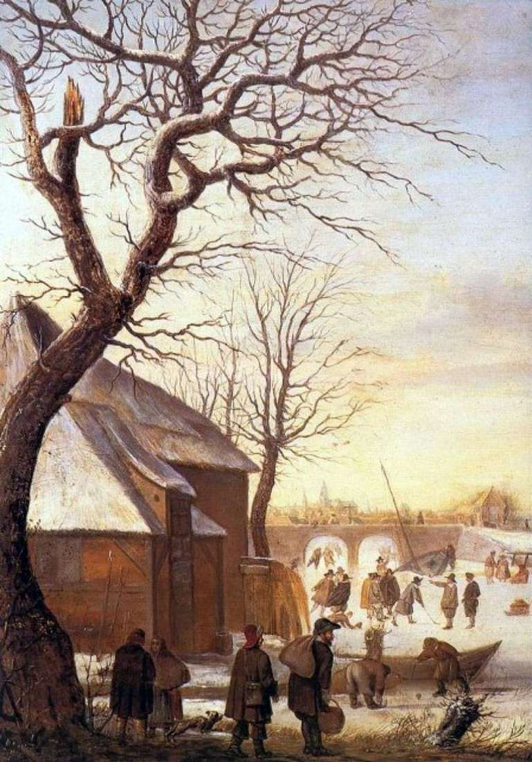 Zimowy krajobraz   Hendrick Averkamp