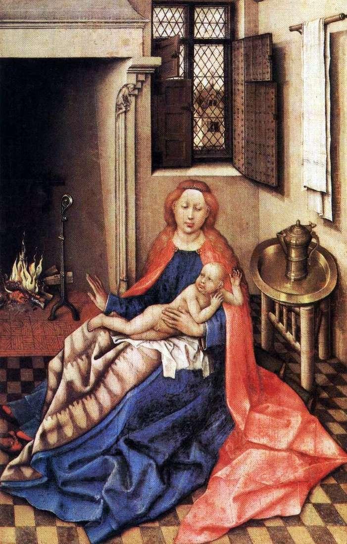 Madonna z Dzieciątkiem przy kominku   Robert Kampen
