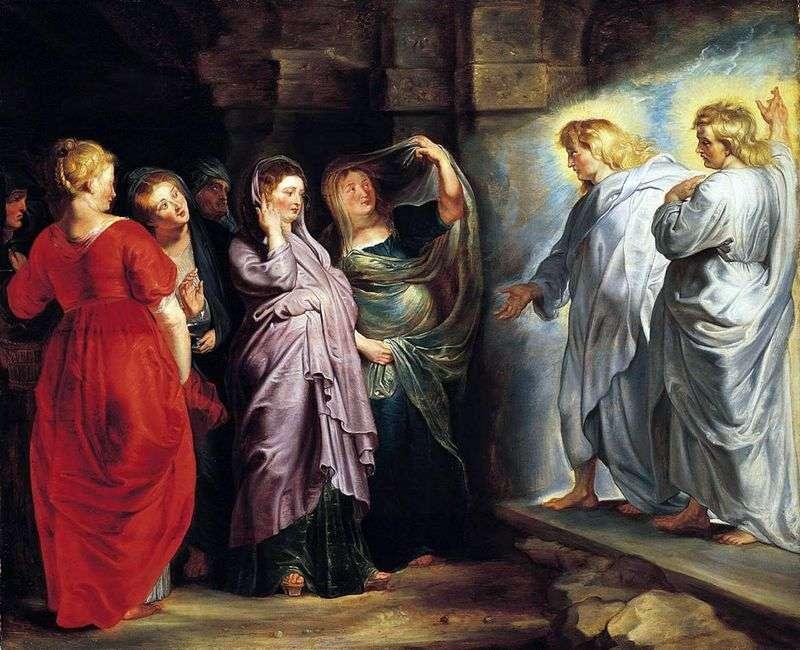 Święte kobiety w grobie Chrystusa   Peter Rubens