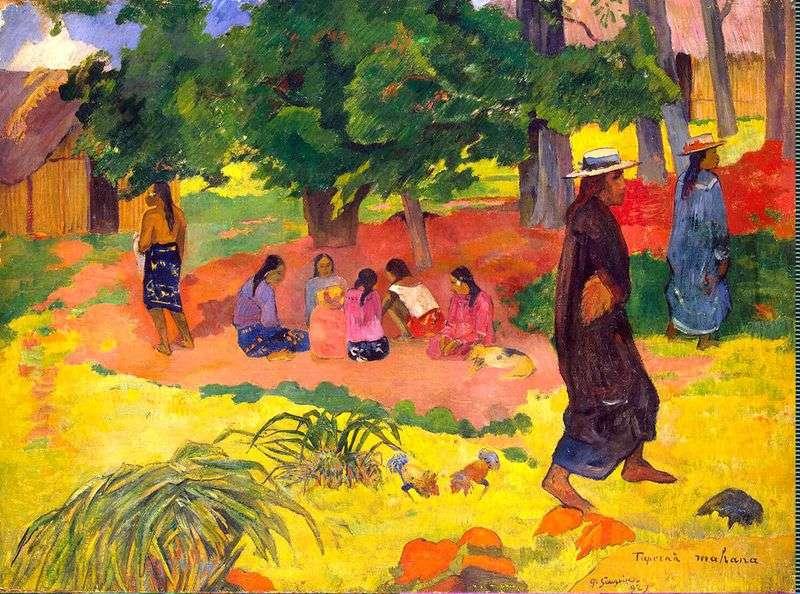 Wczesny wieczór   Paul Gauguin