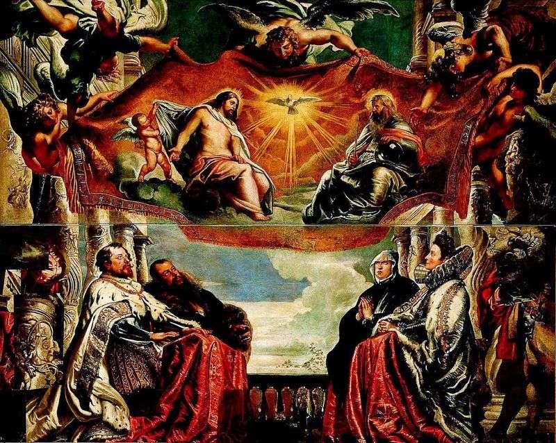 Rodzina Gonzaga Worshiphips the Trinity   Peter Rubens