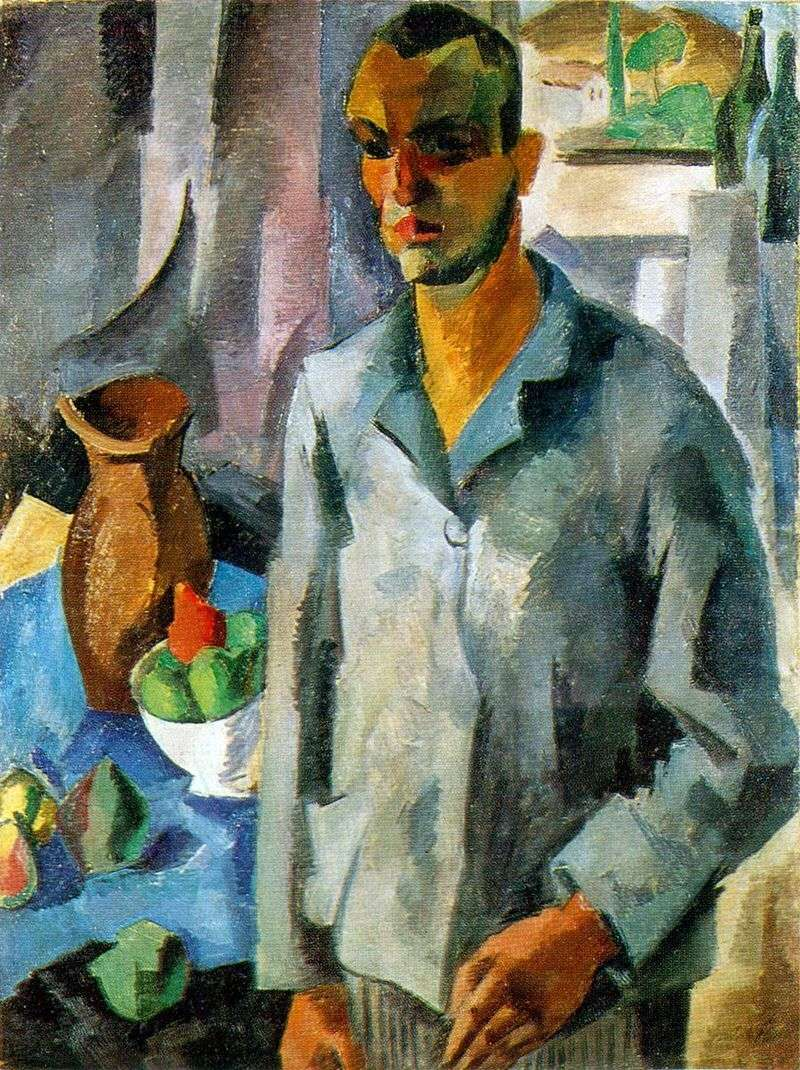 Autoportret na tle okna   Robert Falk